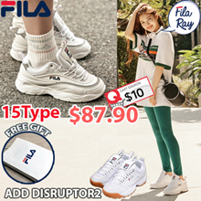 [FILA] [Buy Get Free Gift] ♥Use Qoo10 Coupon $10♥100% Authentic♥ FILA RAY Shoes / Sneakers /DISRUPTOR 2