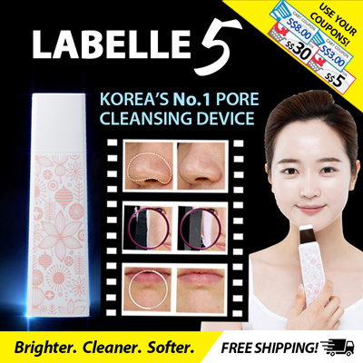 Korea No.1 Blackhead Device! 5000PC SOLD! ?Labelle 5? Official Award Winning ULTRASONIC SCRUBBER Deals for only S$169.9 instead of S$0