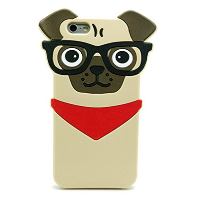 sale retailer 8897c ced58 3C Collection Iphone 7 Plus Pug Case, Iphone 8 Plus Pug Case, 3D Cute  Cartoon Hipster Pug Dog Silico