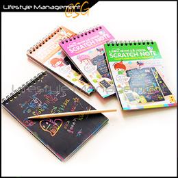 Mini Art/Graffiti Scratch Color Creative Sketch/Note Book/Pad Notebook/Notepad Children Party Pack