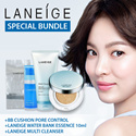 ★LANEIGE★ BB CUSHION PORE CONTROL SPF 50+ / PA +++ | #21 NATURAL BEIGE | #23 SAND BEIGE + LANEIGE Water Bank Essence_EX 10ml + LANEIGE MULTI CLEANSER FOR CLEAR AND BRIGHT SKIN
