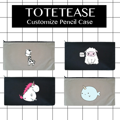 ☆PENCIL CASE CUTE COLLECTION by TOTETEASE☆ 100% Cotton Customize Tote Bag 7d7c8f05eaa25
