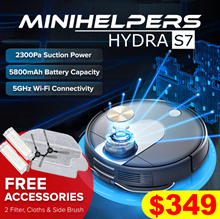 【INTRODUCTORY OFFER❗】★2019 HYDRA S7 Robot Vacuum //5G connectivity+APP+Vacuum+Mop // Local Warranty