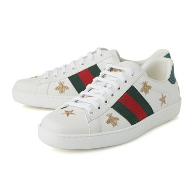 81b1a7596 [GUCCI] [Ace Bee Star Embroidery Sneakers] 386750 A38F0 9073