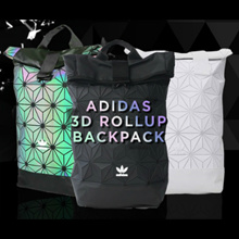 [Free Warranty]Adidas Issey-Miyake Designed 3D Roll Up Backpack and Gym Sack