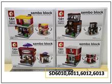 Legoo Sembo Block per set KFCHaagen DazsMcDStarbuck sj0100
