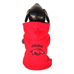 [ALL STAR DOGS] ARKANSAS-POLAR FLEECE HOOD-XS - NCAA Arkansas Razorbacks Polar Fleece Hooded Dog Jac