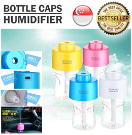 ★SG Seller★ Portable USB Water Bottle Caps Humidifier with LED Night Light Aroma Aromatheraphy Air Diffuser Mist Steam Maker