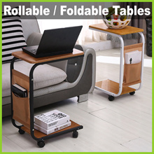 [BL] ★ Rollable or Foldable Tables ★ Convenient Bedside for Computer Laptop Study Table Shelf/Cover