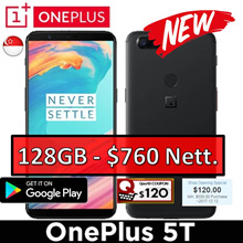 [Pre-Order] One Plus 5T | 128GB [Stock arrive 15 - 20 DEC 2017]
