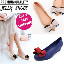 Hot Selling Jelly Shoes women shoes flat jelly heels wedge sandals slippers