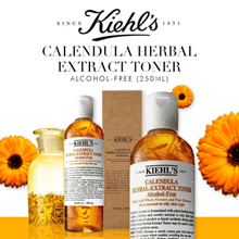 FREE two sample with 500ml purchase! Kiehls Calendula Herbal Extract Alcohol-Free Toner 500ml