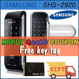 Samsung Digital Doorlock SHS-2920 // WF20 //  Free Gift 1pc Tag key  //  Free Shipping