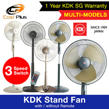 KDK Stand Fan with / without Remote. Local SG Warranty ** READY STOCKS