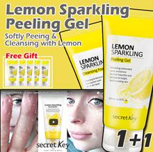 【Secret Key HQ Direct Operation】 💖1+1💖 Lemon Sparkling Peeling Gel 120ml + Cleansing Foam 120g