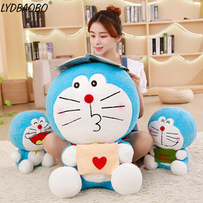 Hot Sale 30/35/40cm Baby Kawaii New Anime Doraemon Plush Kid Cute Jingle Cat Animal Stuffed Doll Fig