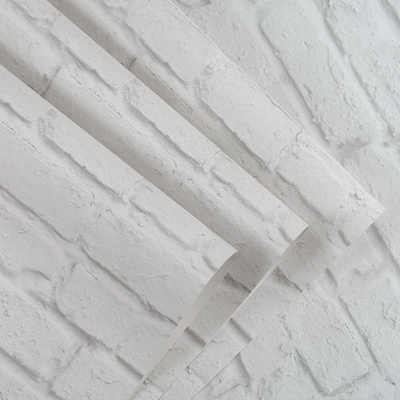 3D white brick brick wallpaper bedroom living room Salon haircut store  brick wall background paper