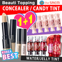 1-day Super Sale!★1+1★Qoo10 LOWEST PRICE★The Saem★CONCEALER / CANDY TINT / Tip/Mineral/Ideal