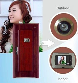 Peephole Door Viewer High Resolution Camera 2.2 Monitor No Wired Easy(color:silver)