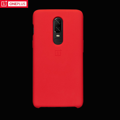 watch 38296 6e692 OnePlus 6 Silicone Case 100% original official Protective cover Red color  one plus 6 coque oneplus6