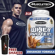 MuscleTech Premium 100% Whey Protein+ 5 Lbs  - FREE Shaker Bottle With Every Purchase / Retail$100