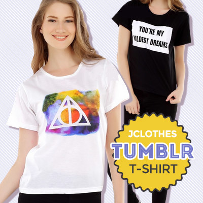 NEW ARRIVAL / JCLOTHES / T-SHIRT WANITA / ATASAN WANITA / TUMBLR T-SHIRT / BANYAK MOTIF Deals for only Rp79.900 instead of Rp79.900
