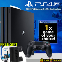 ★SONY PS4 1 TB Pro Console w 1 x Controllers w 1 x PS4 Game w 1 x PS4 Cooling Fan★ Next level gaming 4K Quality Resolution w Remarkable Clarity. Local Sony 15 Months Warranty