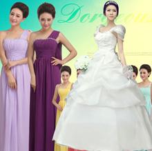 2018 Wedding dress / Bridesmaid dress / Formal Evening Gown / Dinner dress / Shoulder Chiffon dress