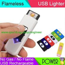 SG Latest Arrival Mini USB Re-chargable Lighter Superman Design USB Electronic Cigarette Lighter Eco
