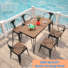 Wooden Outdoor table / Dining table / Great for garden patio balcony / Outdoor and indoor / Durable