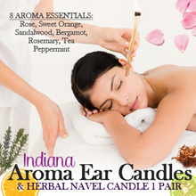 [Lowest Price] Indiana Aroma Ear Candles and Herbal Navel Candle 1 Pair