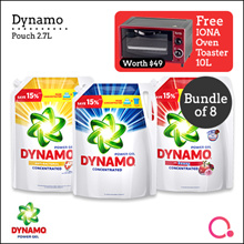 [PnG] [FREE IONA OVEN WORTH $49] DYNAMO - POUCH 2.7L BUNDLE OF 8 Reg/Anti-Bact/Downy Detergent