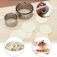 3pcs Stainless Steel Cutter Dumplings Mould Wrappers Maker Dumpling Skin Device Dough Press Pancake