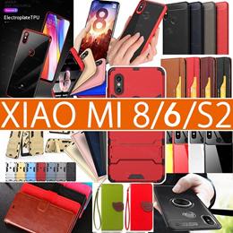 Xiaomi mi 8 8SE  6 6X  REDMI S2   Leather Case full Screen Protector