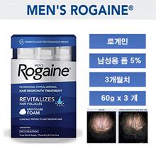 ★ Coupon price $ 48 ★ Rogein for men 5% Minoxidil form 3 months / Mens Rogaine 5% Minoxidil Foam