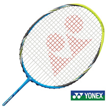 Yonex LCH store Arcsaber FB 78 g Badminton Racket with the BG-80 Gut (Sonicblue) (a)