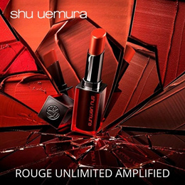 Beautiful shades with high color payoff! Shu Uemura Rouge Unlimited Matte Amplified Lipstick