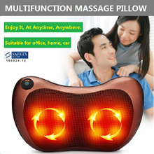 NEW Massage Pillow infrared heating Vibrating Massage Cushion Neck Back Shoulder/ 3 types