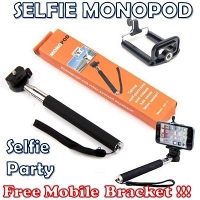 [SALE!]★CHEAPEST★FREE Bracket No Apps Wireless Bluetooth Remote Shutter SELFIE Monopod Lightweight Retractable Handheld Universal Mobile Mount M-shoot Gopro