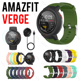 Amazfit Verge lite strap case screen protector charge cable dock tempered glass band accessories