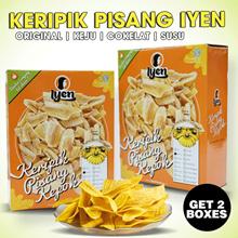 PROMO 2 PACK !! Aneka Keripik pisang - aneka rasa asin - keju - cokelat - susu   Asli Lampung