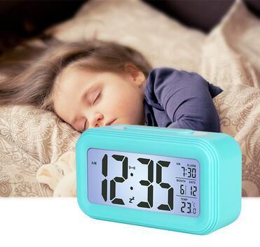 Student Alarm Clock Smart Night Light Bedside Bedroom Electronic Clock Mute Table Clock