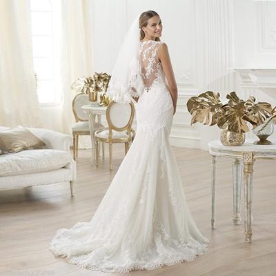 Beach Wedding Dresses 2017.Sexy Boho Wedding Dresses 2017 Straps A Line Open Back Beaded Lace Bridal Gown Beach Wedding Dress L
