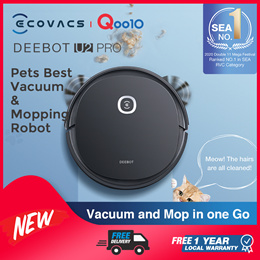 ECOVACS DEEBOT U2 Pro Robot Vacuum OZMO™ Mopping Technology / Design for Pet Owners