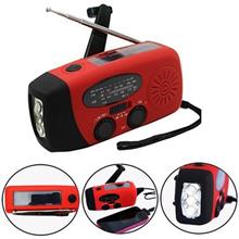 Dynamo Emergency Solar Hand Crank Self Powered AM/FM/WB/NOAA Weather Radio LED Flashlight Smart Phon