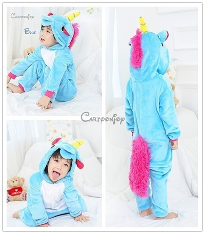 Children Halloween Party Funny Animal Onesies Hot Cartoon Collections  Winter Warm Sleepwear Flannel 3465b3aaa