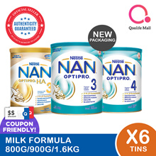 Nestle Nan Milk Formula milk [Stage 3/ 4/ 3 H.A] (Bundle of 6)