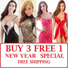 [LAZY B] NEW ARR / VALENTINE NEW YEAR SALE SEXY LINGERIE PYJAMAS Thong Stocking Cosplay Sleepwea