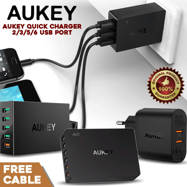 Aukey Quick Charger 3.0 USB Deals for only Rp290.000 instead of Rp290.000