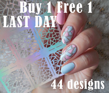 🌟 Event ( Buy 1 Free 1 ) 🌟 Nail Stencil Vinlys Stickers ☆ EASY DIY Hollow